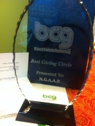 BCG award for NGAAP